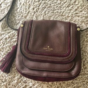 Leather and suede unique kate spade